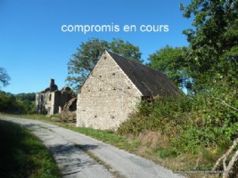 For sale near Aubusson in Creuse, barn and ruin of a house.