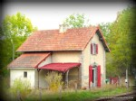 For sale in Creuse, near Aubusson, Railway cottage, garden.