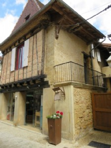 Bastide stone village house with shop