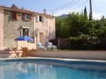 *Two charming semi detached cottages, pool, garden, views, parking, walk to village centre