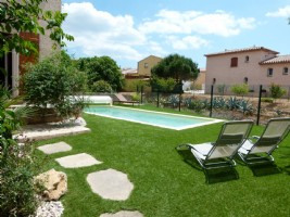 *Villa with pool near the beach at Portiragnes.