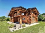 An utterly unique 4 bedroom Log-cabin chalet in Mieussy with breath-taking mountain vistas.