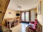A 2 bedroom duplex apartment, in a small chalet.