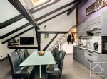 A 2 bedroom apartment in a renovated farmhouse.