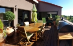 Stunning renovated barn with 300 m² living space, garage, terrace, in the heart of the village.