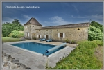 Issegeac near, field on 9 Ha, main house, cottage and outbuildings allowing to create second lodging