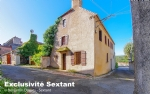 Village house to renovate, terrace with views, workshop / loft, garages and garden