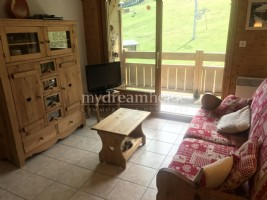 Ski in ski out 2 bedrooms appartment in Les Evettes Flumet (73590)