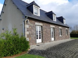 Detached five bedroomed house with outbuiding and land