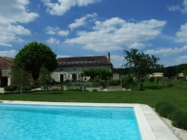 Aubeterre Country house with gite. Pool. 15+ acres
