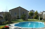 Near Aubeterre. Renovated stone barn conversion with pool. Close to village shop