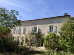 5 bed house, barns, 3 acres+, river, shops. Matha Charente Maritime