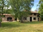 An idyllic Gascon farmhouse set at the end of a lane.  .