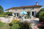 Piégut-Pluviers (Dordogne) - Charming, renovated stone cottage for sale with pool, barn and woodland