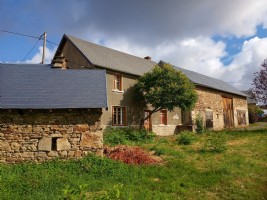 Farmhouse to renovate with barn and attached garage.
