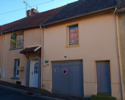 Semi detached house in medieval village