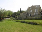 *Character Stone Detached Farmhouse with views, garden and pool, close to village centre