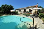 Beautiful three bed of 130sqm villa with garden and pool in Tourbes.