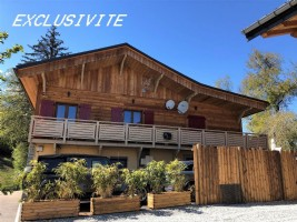 Chalet with view of Mont Blanc