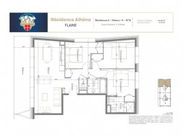 3 bedroom, 84.6m2 fully furnished apartment in a new, ski-in ski-out development.
