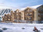 New build 2 bedroom + bunk room apartment, with garage and ski locker opposite the slopes
