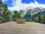 Light and spacious 4 bedroom chalet with an amazing 60m2 south facing sun deck in a bucolic setting
