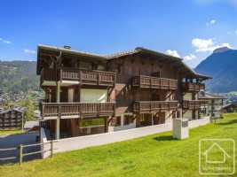 A bright and spacious 3 bedroom, 2 bathroom ski-in, ski-out apartment with large garage and cave.