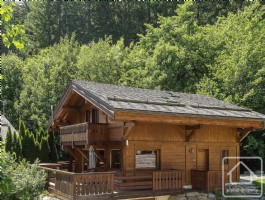 5 bedroom chalet with jacuzzi bordering the forest within walking distance of Grands Montets