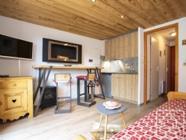 A beautifully renovated studio apartment, sold fully furnished, located in a quiet mountain resort.