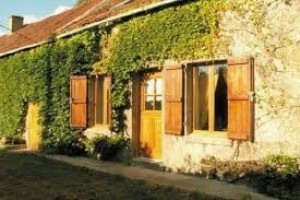 Pretty stone farmhouse fitted out for rental in gite, plus house to renovate
