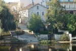 Charente. Stone riverside town house with river views