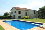 Aude 9 bedroom house with 2 gites, 7 acres, mountain views and pool
