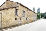 Charente 3 bed village home attached stone barn land 4846 m²