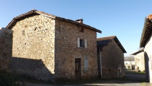 Village house with large barn and detached garden