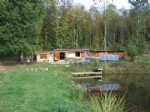 Very private lakes with woodland all around and a habitable chalet