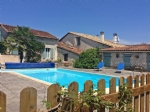Villebois-Lavalette (16) - Lovely south facing Charentaise house with pool, views and gite potential
