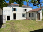 House to Renovate with 2 Bedrooms, Courtyard, Barn and Small House - Near Ruffec