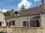 Nice house with courtyards/terraces near a swimming spot in the river