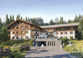 An 80.91m2, 2 bedroom apartment with terrace, cave and ski locker.