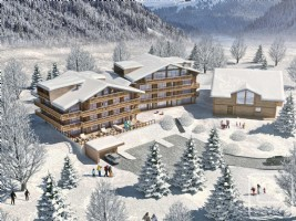 A unique triplex apartment, more like an independent chalet than an apartment.