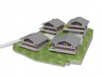 An exclusive project of 4 luxury chalets, delivered as a watertight shell