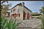 Issigeac near, village house with garage and 1050 m2 of land