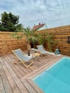 Magnificent new house adjoining by the garage of approximately 120m² on 3.20 ares
