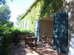 Furnished apartment among 12 other small stone residences in a landscaped park with pools.